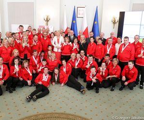 Olimpijczycy w Pałacu Prezydenckim