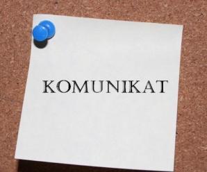 Informacja dla Rodziców – Grupy Agnieszki Jodko i Arkadiusza Króla