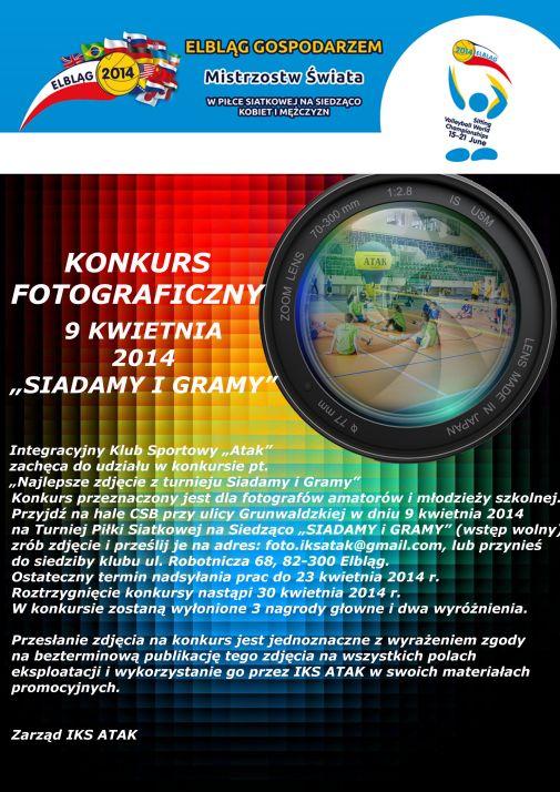 plakat konkurs foto