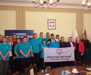 Olimpijczycy z  wizytą u Wojewody Warmińsko-Mazurskiego