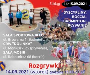 INTEGRACYJNA SPARTAKIADA 14-15.09.2021 ELBLĄG